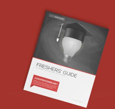 Das Cover des Freshers' Guides für Medizinstudent:innen