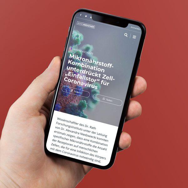 Jungmediziner.net auf dem iPhone