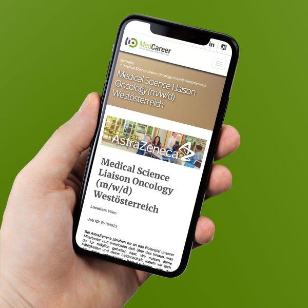 MedCareer.eu auf dem iPhone